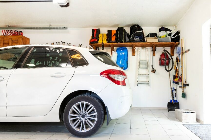 Garage Organization with Shelves and Racks to Maximize Garage Space