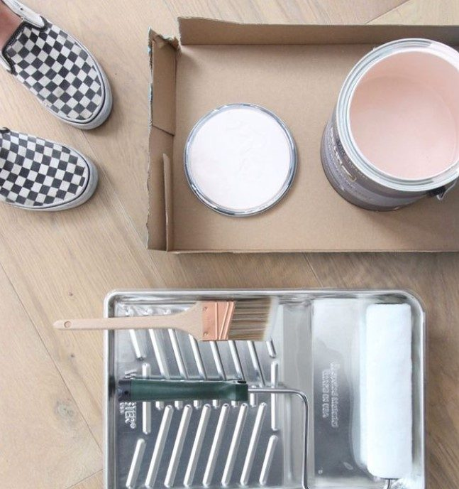 Painting during a home renovation
