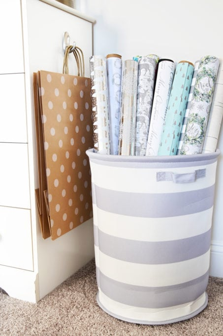 Declutter Gift Wrap Gift Wrapping Station