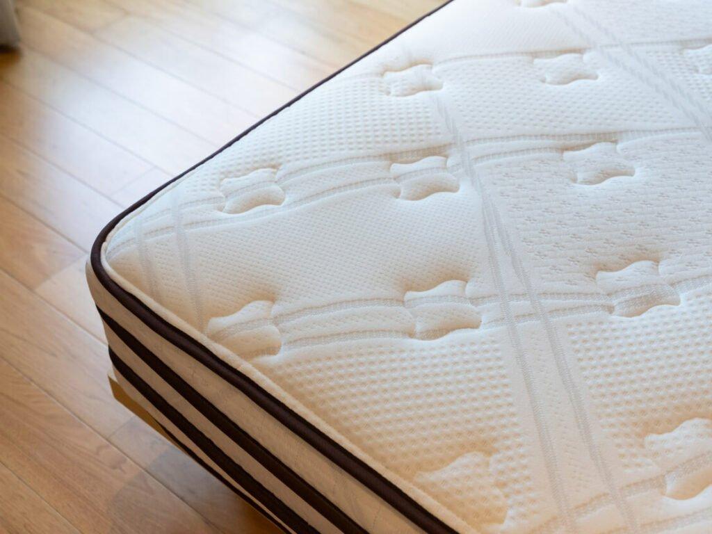 bare mattress prepared for storage